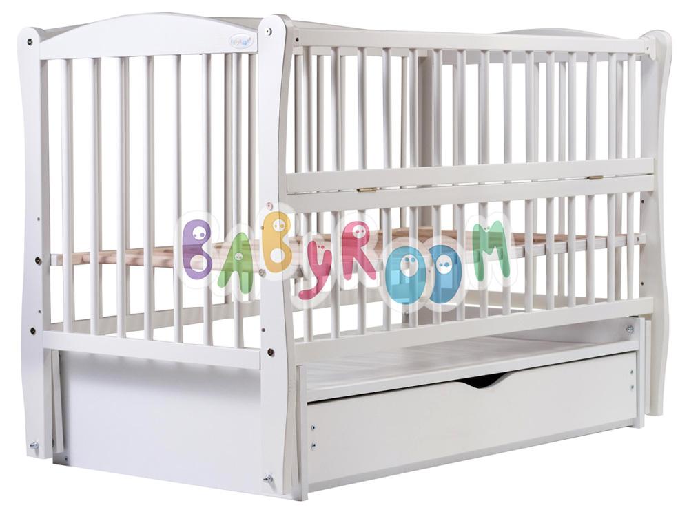Кровать Дубок Еліт маятник, ящик, откидной бок DEMYO-5 бук белый