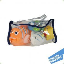 Набор для ванной в виниловой сумочке, 4 рыбки