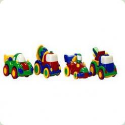 "Набор ""Машинки""(кран, бетономешалка, гоночная)"