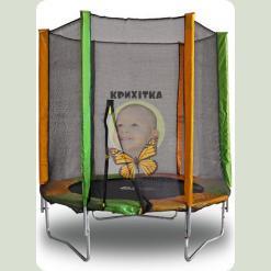 Батут Kidigo 140см с защитной сеткой