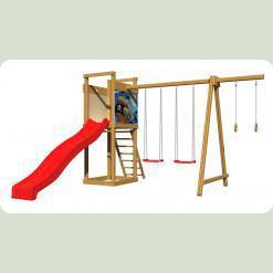 Детская  деревянная площадка SportBaby-4