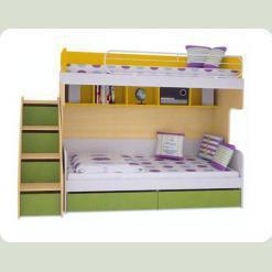 Детская двухъярусная кровать Солнечный город