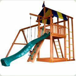 Детский домик с горкой для дачи Бэбиленд-6