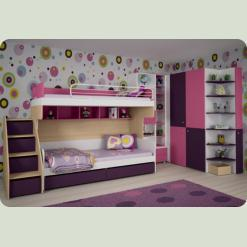 Полный комплект детской спальни СОЛНЕЧНЫЙ ГОРОД-1