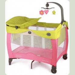 Манеж Graco Contour Vibe Circus цвет розовый с желтым