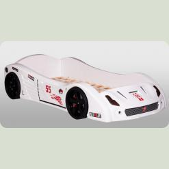 "Кроватка-машина ""Ferrari V2"" , белая"