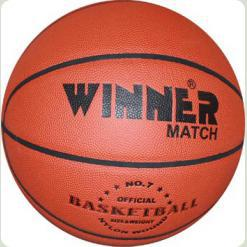 Мяч баскетбольный WINNER Match № 7 - универсальная модель для каждого