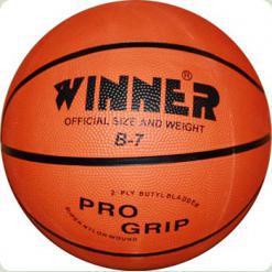 Мяч баскетбольный WINNER Orange B-7 подходит для школьных соревнований