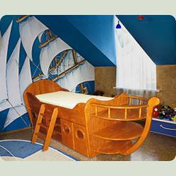 Одноярусная кровать Кораблик