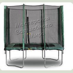 Прямоугольный батут Kidigo 215х150 см с защитной сеткой