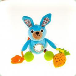 Активная игрушка-подвеска Biba Toys Занимательный кролик со звуком (114GD)