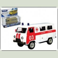 Авт 30068W-CIS 1:43 UAZ 39625 скорая помощь