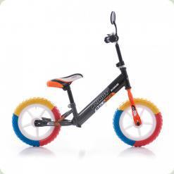 """Беговелы Azimut Balance Bike EVA 12"""" Графит-оранжевый"""