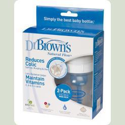 Бутылочка для кормления Dr. Brown's с широким горлышком 120 мл 2 шт (557)