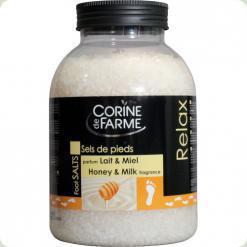 CDF Соль морская для ног Мед-молоко