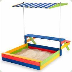 Детская деревянная песочница 2