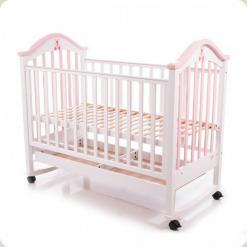 Детская кроватка Babycare BC-440M Ламель Бело-розовый