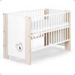 Детская кроватка Klups Megi Mis с ящиком Капучино