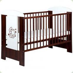 Детская кроватка Klups Mis Орех
