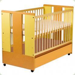 Детская кроватка Klups Paula (с ящиком, колесиками) Пастель