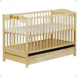 Детская кроватка Klups Radek V (с ящиком) Сосна