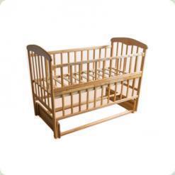Детская кроватка Наталка Маятник Светлая с регулируемой боковиной