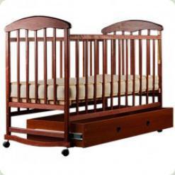 Детская кроватка Наталка Маятник Тонированная с ящиком