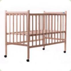 Детская кроватка нелакированная Наталка Ясень