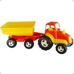 Детская машинка Kinderway Трактор с прицепом (07-709) Красный
