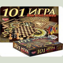 """Детская настольная игра """"101 игра для всей семьи"""""""