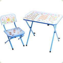 Детская парта со стульчиком Ommi Optima Голубой