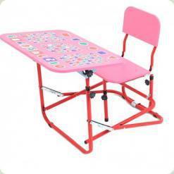 Детская парта-трансформер OMMI Розовый