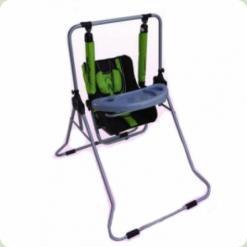Детские качели Adbor N1 3-в-1 со столиком Зеленый