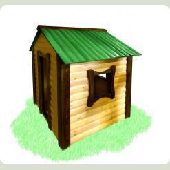 Детский домик Babygrai — зеленый
