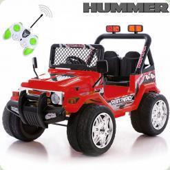 Детский электромобиль 618R + Д/У Хаки, красный