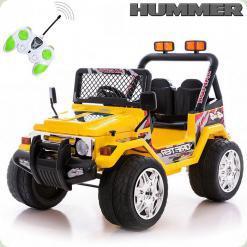 Детский электромобиль 618R + Д/У Хаки, желтый