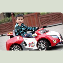Детский электромобиль Bugatti Veyron SX1118, красный