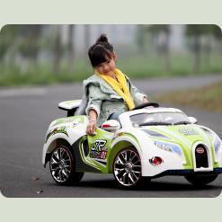 Детский электромобиль Bugatti Veyron SX1118, зеленый