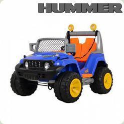 Детский Электромобиль Джип Hummer, синий