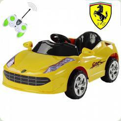 Детский электромобиль Ferrari, желтый