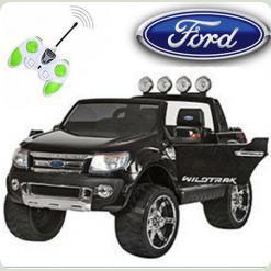 Детский электромобиль FORD RANGER (Резиновые колеса), черный