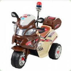 Детский электромобиль JT 015-13 мотоцикл Bambi (бежевый)