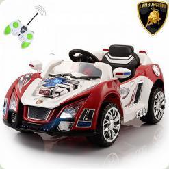 Детский электромобиль Lamborghini 12 V, красный
