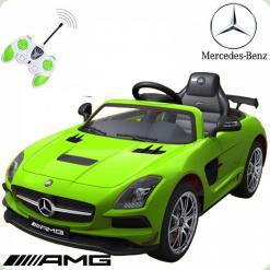 Детский электромобиль Mercedes-Benz, салатовый