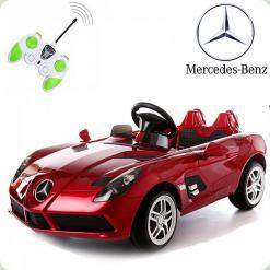 Детский электромобиль Mercedes-Benz SLR McLaren, бордовый