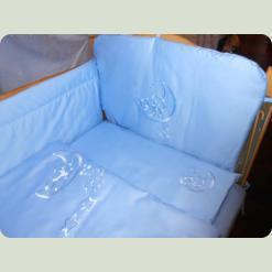 Детский комплект постельного белья сатиновый с вышивкой