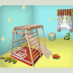 Детский спортивно-игровой комплекс Малыш из бука