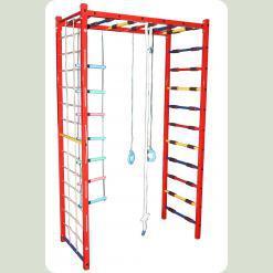 Детский спортивный комплекс П-шка металический (с навесным оборудованием), ширина лестницы 65 см