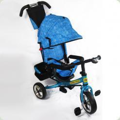 Детский трехколесный велосипед Combi Trike BT-CT-0003 BLUE с усиленной родительской ручкой.