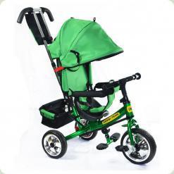 Детский трехколесный велосипед Combi Trike BT-CT-0003 GREEN с усиленной родительской ручкой.